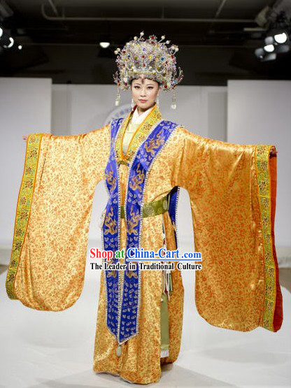 Ancient Chinese Empress Costume and Phoenix Crown