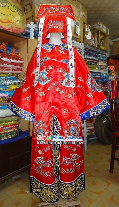 Chinese Opera Dragon Robe Longtao Costumes Set