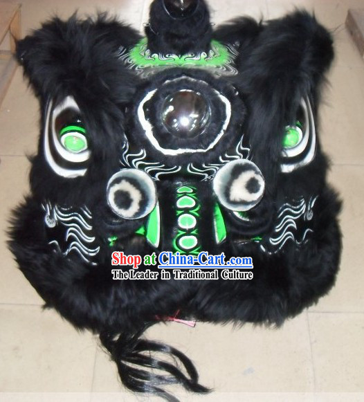Classic Liu Bei Tiger Stripe Pattern Lion Dance Costumes Complete Set