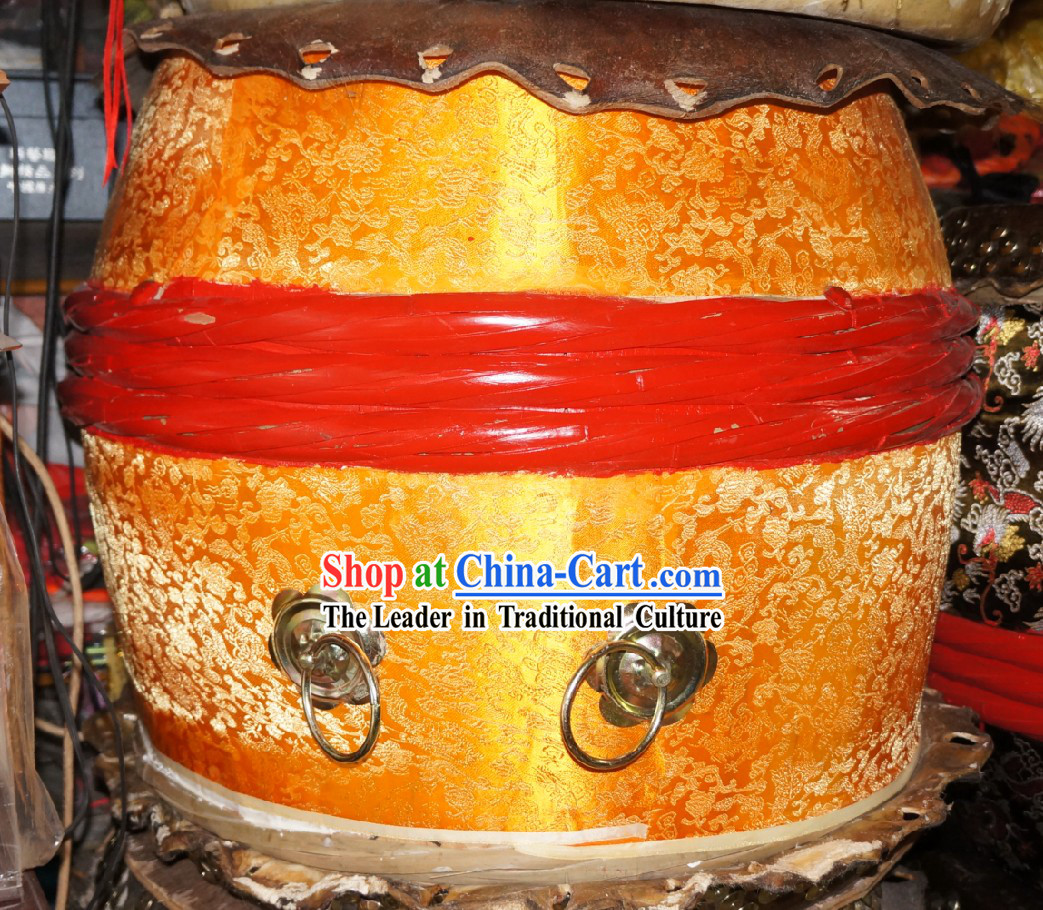 Traditional Handmade Golden Dragon Drum