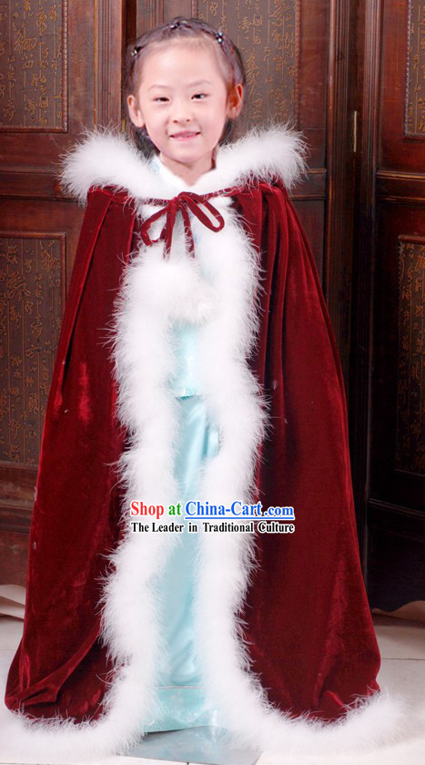 Ancient Chinese Long Winter Shawl for Kids