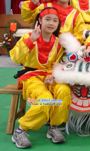 Traditional Chinese Lion Dance and Dragon Dance Suit