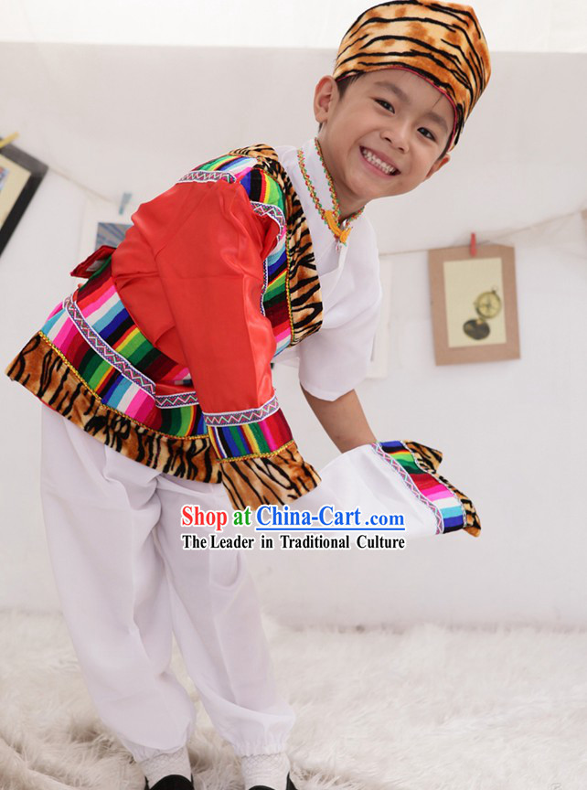 Tibetan Boys Dance Costume Complete Set