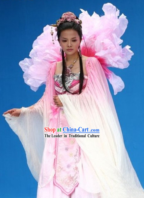 Chinese Ancient Flower Fairy Costumes Complete Set