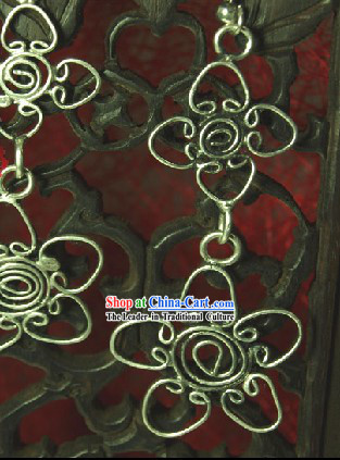 Chinese Hand Carved Miao Earring