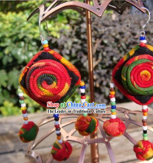 Chinese Hand Made Miao Earrings
