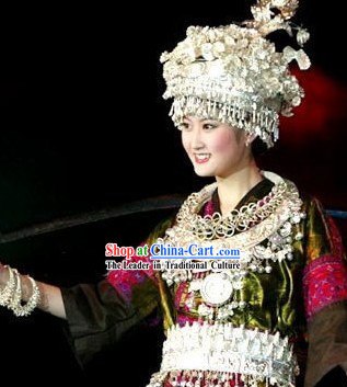 Chinese Traditional Miao Minority Phoenix Crown
