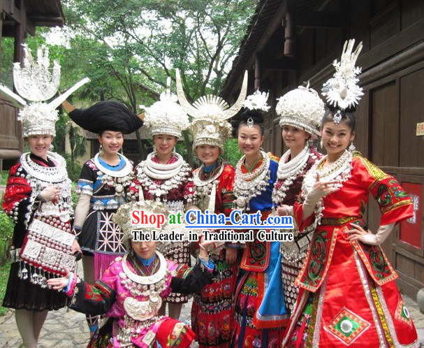 Chinese Minority Eight Costumes Sets