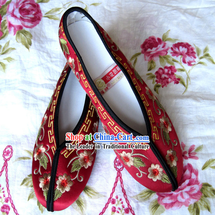 Chinese Hanfu Embroidery Shoes for Bride