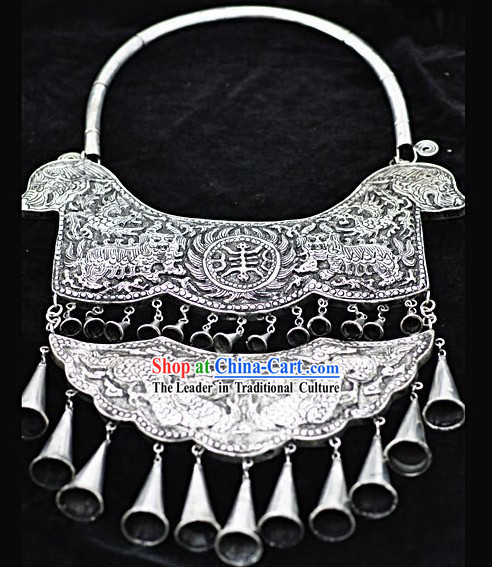 Chinese Hand Made Two Layers Miao Silver Chaplets