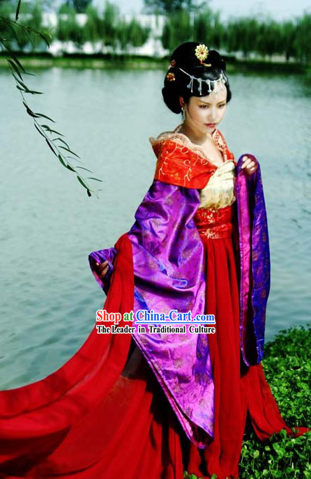 Chinese Princess Clothes and Hair Decoration Set