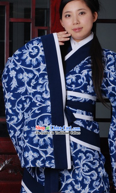 Chinese Blue and White Quju Inform Wear Set