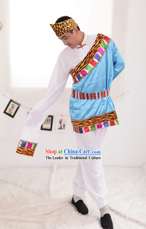 Chinese Traditional Tibetan Dance Costumes for Men