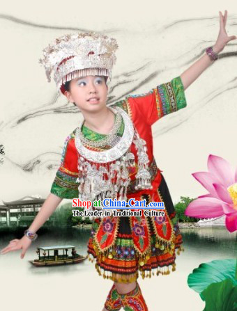 Chinese Miao Dance Costumes for Children