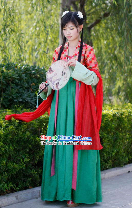 Ancient Tang Dynasty Women Clothing Complete Set