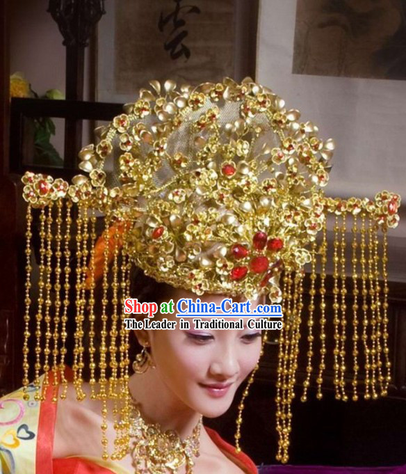 Ancient Chinese Bride Wedding Phoenix Crown