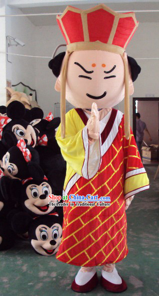 Chinese Tang Seng Cartoon Mascot Costumes Complete Set