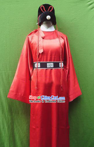 Ancient Zhan Zhao Costumes and Hat Set