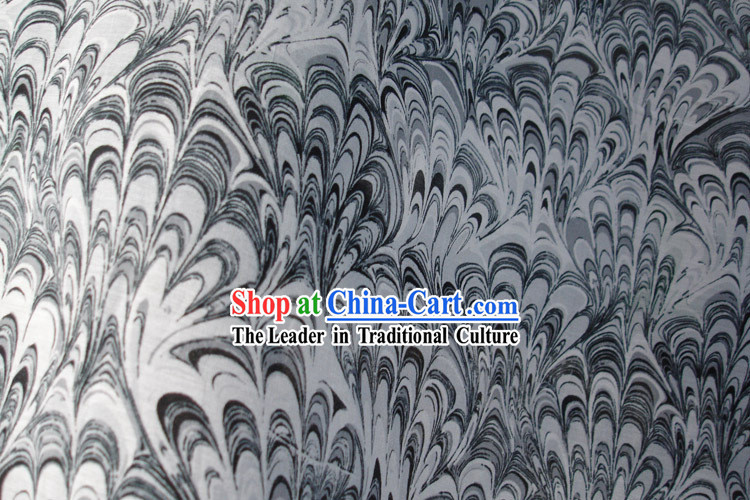 Traditional Chinese Phoenix Tail Silk Fabric