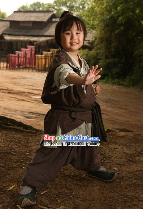 Ancient Chinese Kung Fu Costumes Set for Children