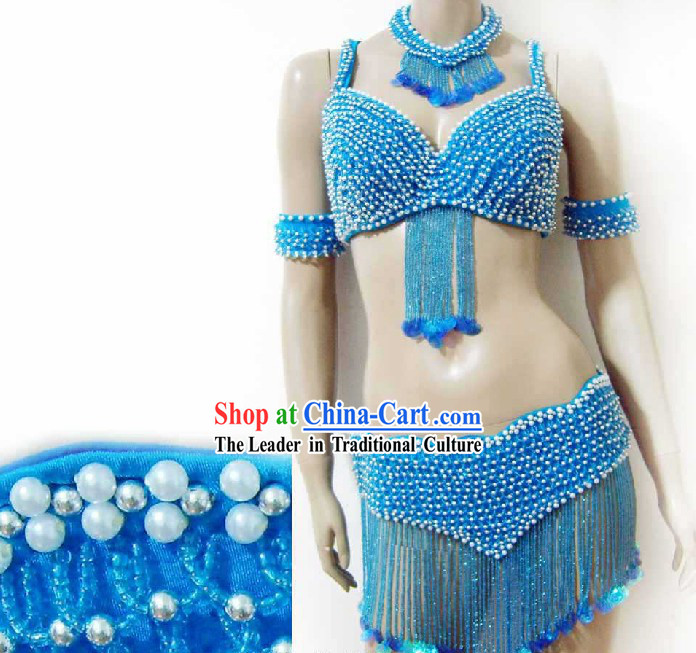 Top Competition Short Belly Dance Costumes Complete Set for Women