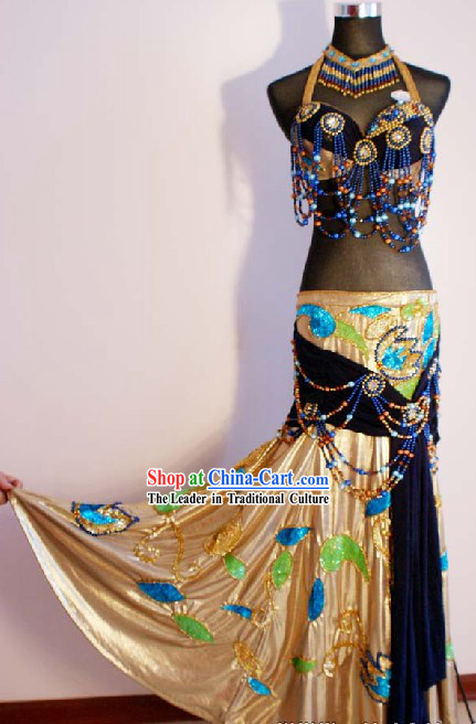 Top Belly Dance Performance Costumes Complete Set for Women
