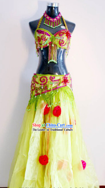 Custom Made Belly Dance Costumes Complete Set for Women