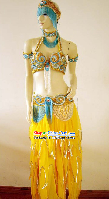 International Competition Belly Dance Costumes Complete Set for Women