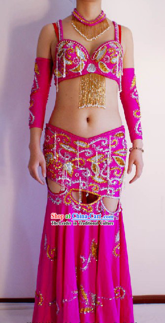 Hand Made Belly Dance Costumes Complete Set