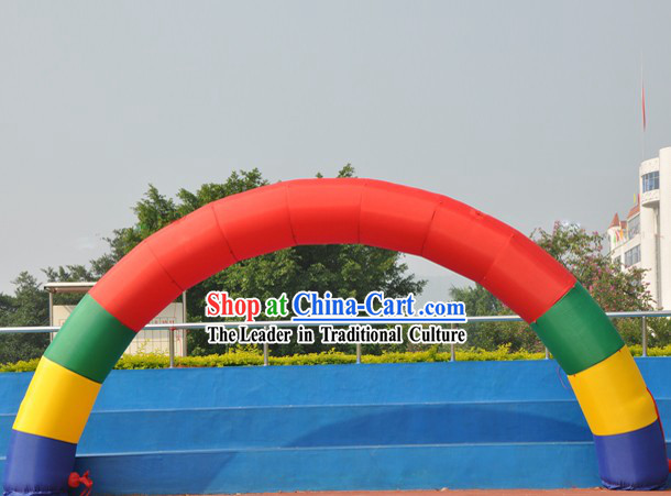 Happy Celebration Rainbow Inflatable Arches