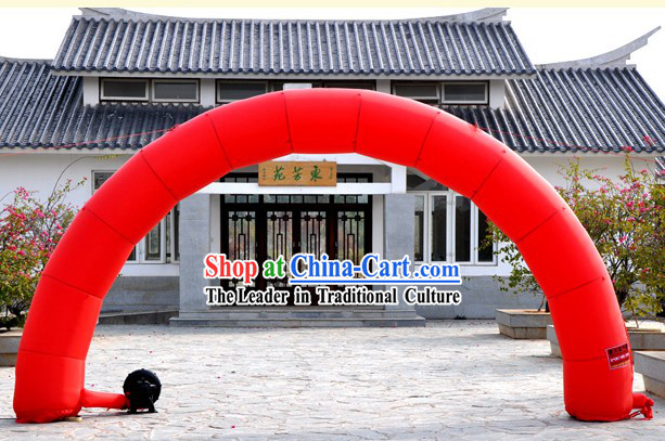 Happy Celebration Red Inflatable Arches