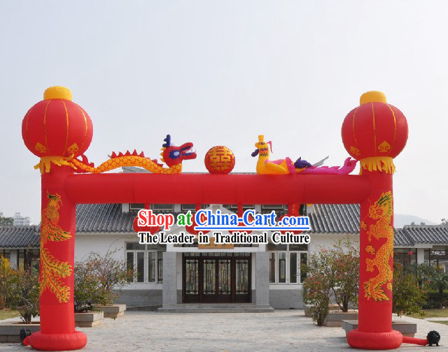 Large Inflatable Dragons and Lanerns Archway Set