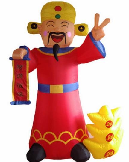Walking Inflatable God of Wealth Cartoons Costumes