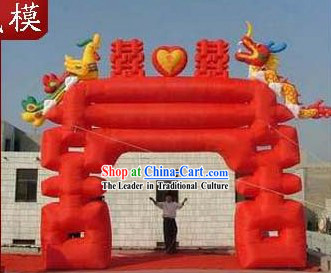 Chinese Wedding Inflatable Xi Dragon Phoenix