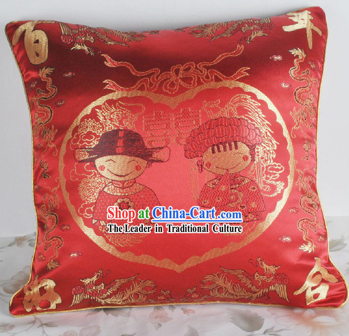 Traditional Chinese Wedding Silk Cushion