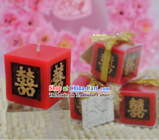 Traditional Chinese Wedding Candle 10 Pieces Set