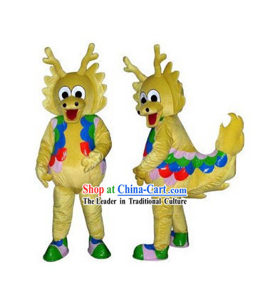 Chinese Dragon Adult Mascot Costumes Complete Set