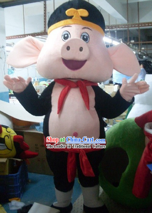 Chinese Journey to West Zhu Bajie Mascot Costumes Complete Set