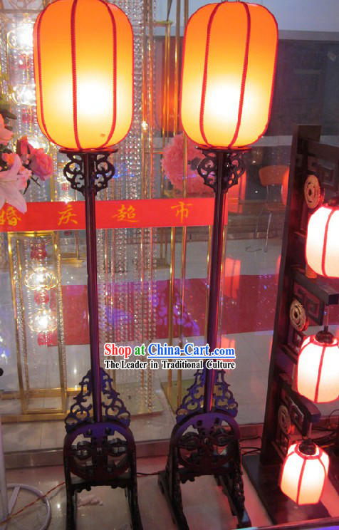 64 Inches High Chinese Wedding Palace Lantern Complete Set