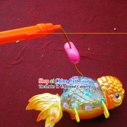 Chinese Happy Festival Celebration Goldfish Lantern