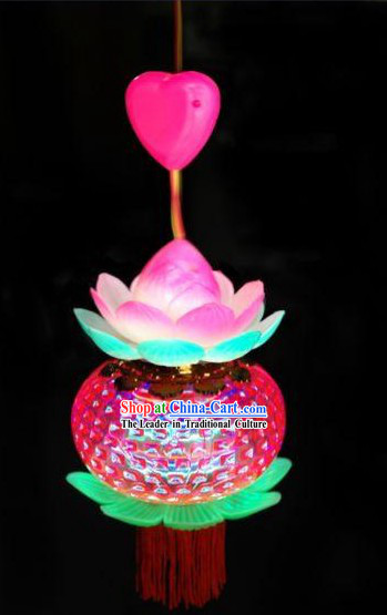 Chinese Happy Festival Celebration Lotus Lantern