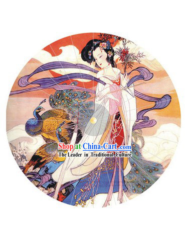 Hand Painted Chinese Ancient Beauty Umbrella