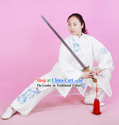 Chinese Tai Chi Competition Champion Silk Suit and Cape Set