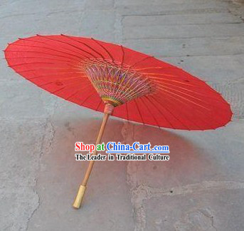 Chinese Hand Made Red Umbrella