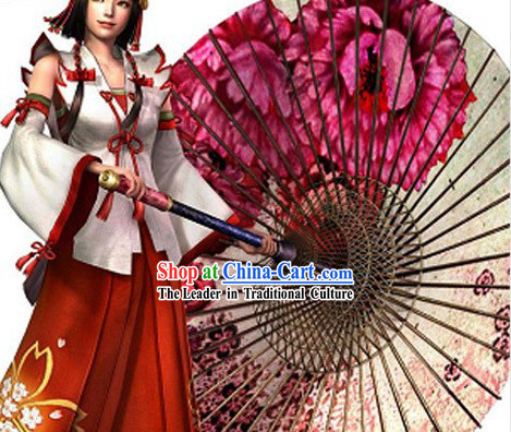 Large Cosplay Flower Umbrella
