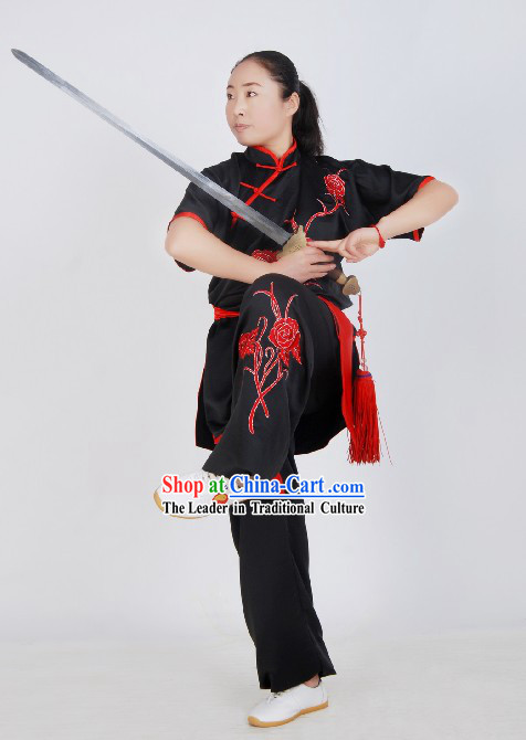 Chinese Silk Tai Ji Suits for Competition and Exercises