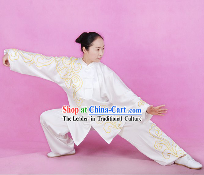 Chinese Silk Tai Ji Costumes Complete Set