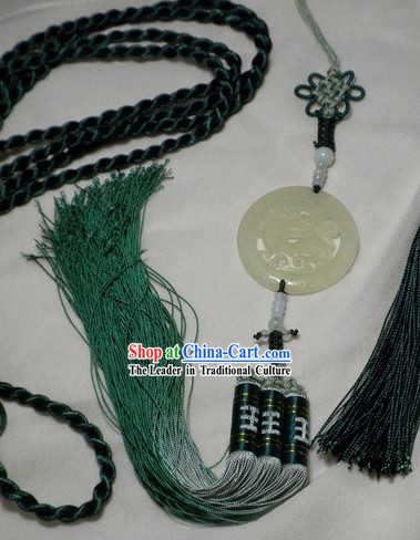 Chinese Hanfu Jade Wearing for Men's Wear