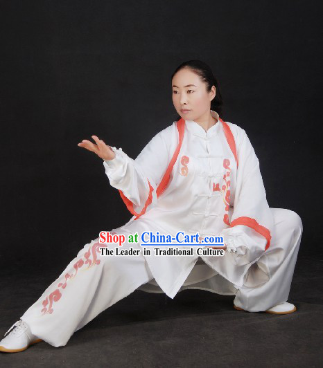 Chinese Silk Kung Fu Costumes and Cape Complete Set
