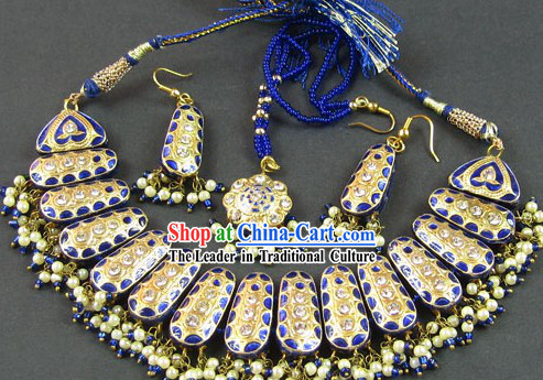 Stunning Indian Necklace and Earrings Set - Wisdom